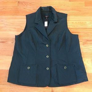 NWT—Talbots Lightweight Quilted Vest